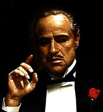 Schilderij Godfather Schilderij | Marlon Brando schilderij van Kunst Company