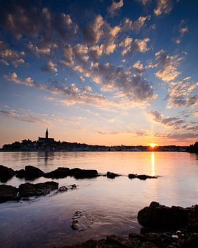 Sonnenaufgang in Rovinj, Kroatien von Laura Vink