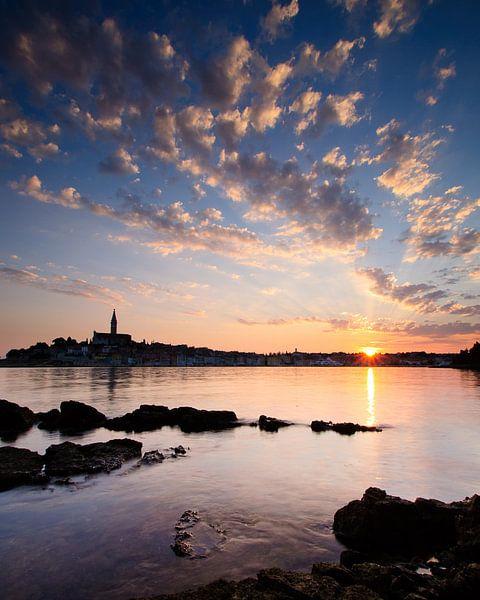 Sunset in Rovinj van Laura Vink