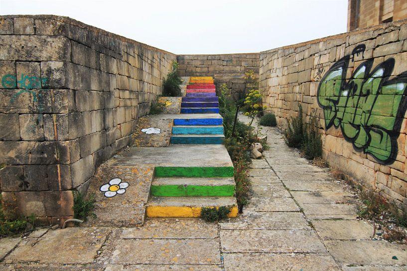 Die Treppe zum Regenbogen von ilja van rijswijk
