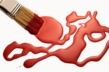 rode kleur van Jürgen Wiesler