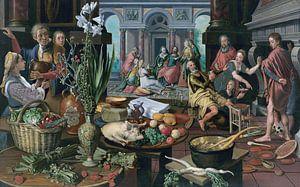 Stillleben mit Christus im Haus von Martha und Maria, Pieter Aertsen