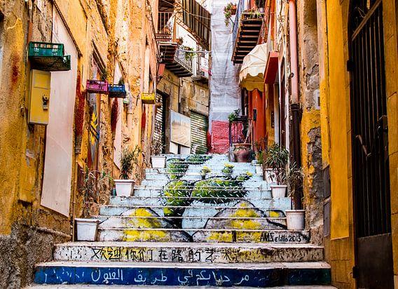 Sicilian steps, Italy van Thomas Bartelds
