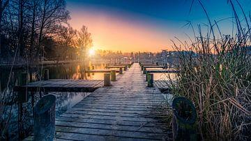 Zonsopkomst in Limburg von Remco Piet
