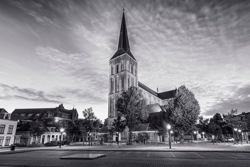 De Bovenkerk Kampen in zwart wit van Fotografie Ronald