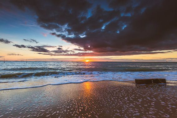 Strand zonsondergang van Andy Troy