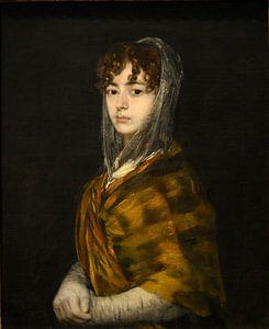 Francisca Sabasa y Garcia - Portret vrouw oude meester van Francisco Goya