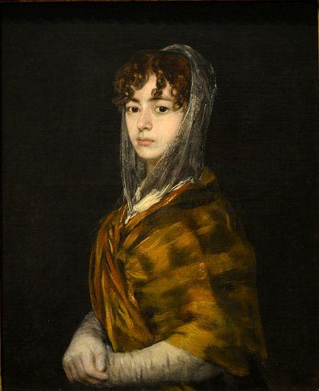 Francisca Sabasa y Garcia - Portret vrouw oude meester van Francisco Goya van Prachtige Prints