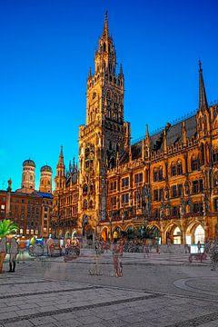 München Rathaus Platz von Stefan Havadi-Nagy