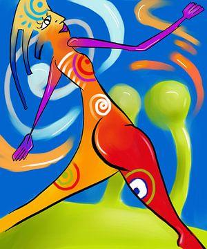 Schilderij In Our Lands - Creatief Abstract Schilderij sur Kunst Company