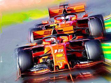 Bella Macchina - Leclerc & Vettel van Jean-Louis Glineur alias DeVerviers