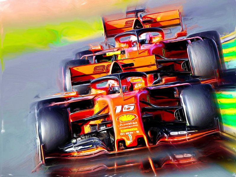 Bella Macchina - Leclerc & Vettel van DeVerviers