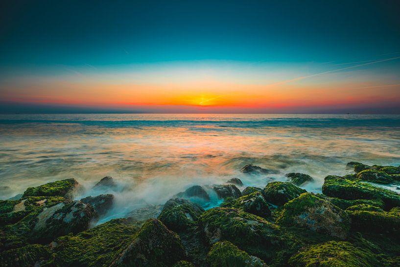 Westkapelle zonsondergang van Andy Troy
