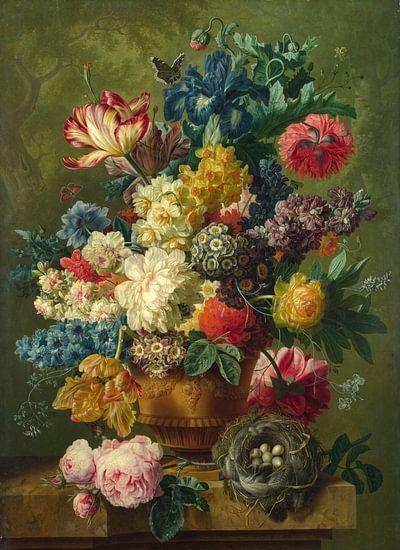 Flowers in a Vase, Paulus Theodorus van Brussel