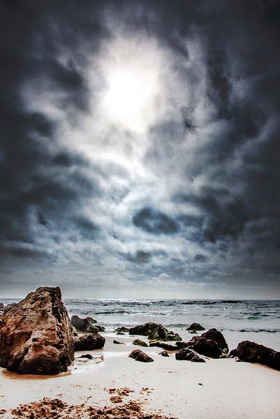 Strand en tegenlicht