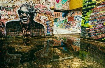 Graffiti aan Dok Noord in het Belgische Gent van Ellen Driesse