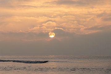 Coucher de soleil sur Zandvoort en mer sur Paul Veen