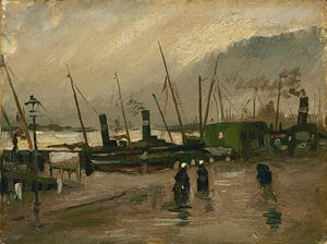 Vincent van Gogh, De Ruijterkade te Amsterdam van