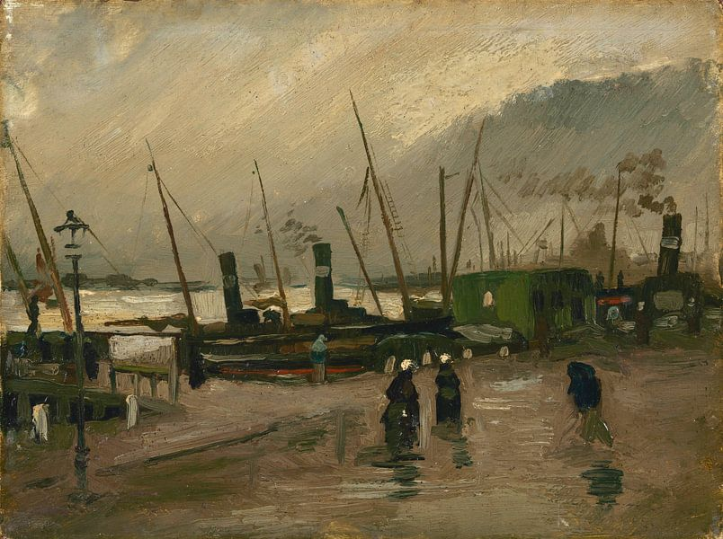 Vincent van Gogh, De Ruijterkade te Amsterdam van 1000 Schilderijen