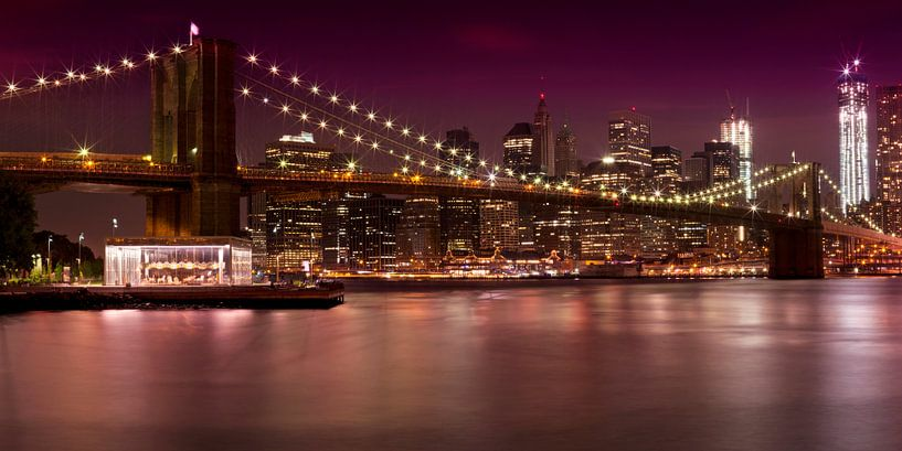 Night-Skyline New York City van Melanie Viola