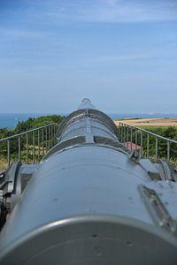 Krupp K5 kanon te Batterij Todt aan Het Kanaal bij Cap Gris-Nez van