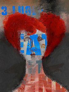 La femme aux cheveux roux sur Gabi Hampe