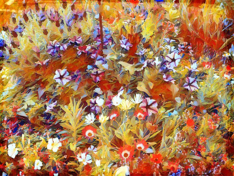 Bunte Blumenwiese Impressionismus von Patricia Piotrak