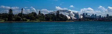 Sydney Operahuis en Harbour Bridge van