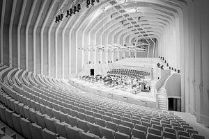 opera zaal in Valencia in zwart wit van