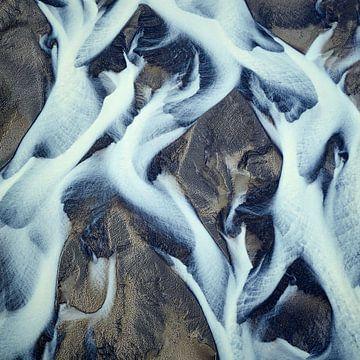 Rivierdelta Texturen van IJsland #18 van Keith Wilson Photography