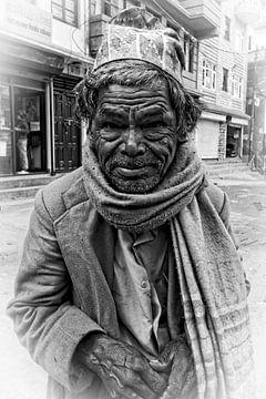 straatportret oude man sur rene schuiling