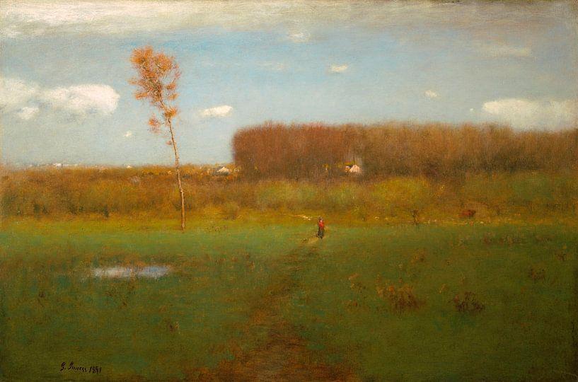 Oktober Mittag, George Inness von Meesterlijcke Meesters