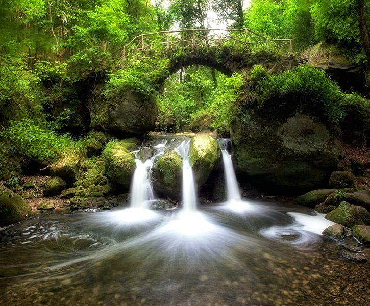 Schießentumpel waterval, Luxemburg van Fotografie Egmond