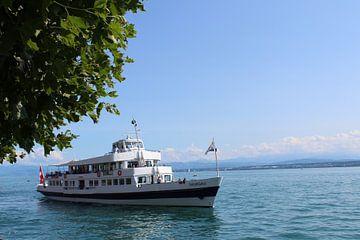 Een schip op het Bodenmeer van Mavin Taschik