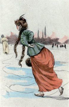 Mode 1887,  Mode in het negentiende-eeuwse Parijs, Henri Boutet, (1851 1919) van Liszt Collection