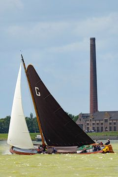Skûtsje classic Frisian rides sailboat  sur Sjoerd van der Wal