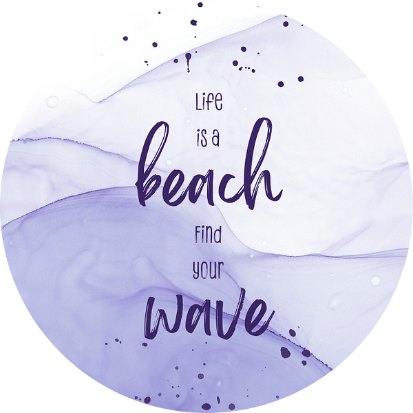 Life is a beach. Find your wave.   floating colors van Melanie Viola