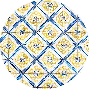 Gele tegels van Lissabon van Ronne Vinkx