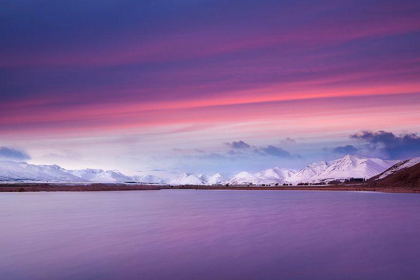 Maori lake New Zealand van Jurgen Siero