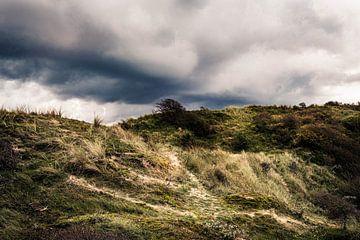 Dreigende wolken lucht boven een duin van MICHEL WETTSTEIN