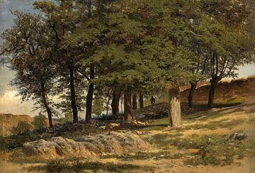 Carlos de Haes-ein Wald.Steinkloster,Antike Landschaft