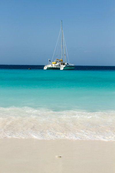 Catamaran bij klein Curacao no. 4 van Arnoud Kunst