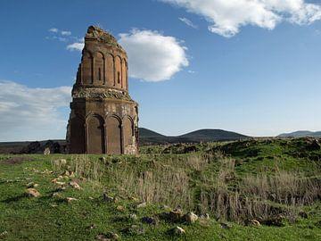 Ruine in de oude Armeense stad Ani (3) van Anne Hana