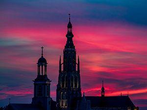 Breda Sunset Grote Kerk van