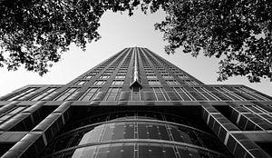 Abstrakter Wolkenkratzer in schwarzem Weiß von Cynthia Hasenbos