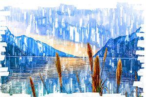 Bergsee -Digitale Fotomalerei