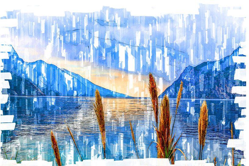 Bergsee -Digitale Fotomalerei von Dietmar Meinhardt