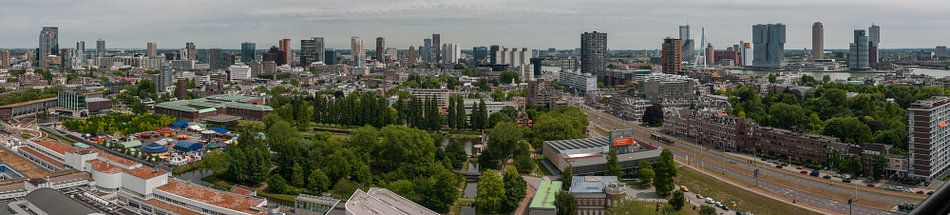 Skyline Rotterdam panorama van Erik van 't Hof