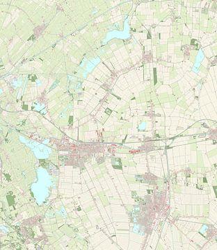 Kaart van Midden-Groningen