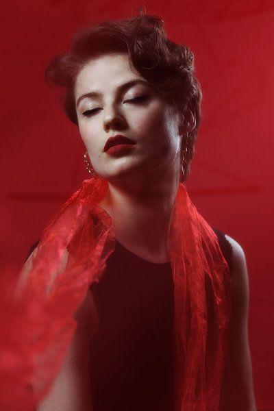 Vintage vrouw van Iris Kelly Kuntkes
